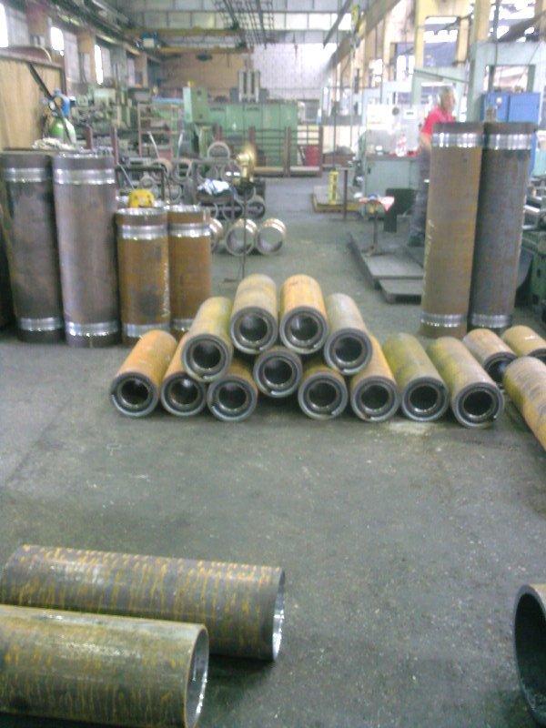 Tubes for rope hoist drum