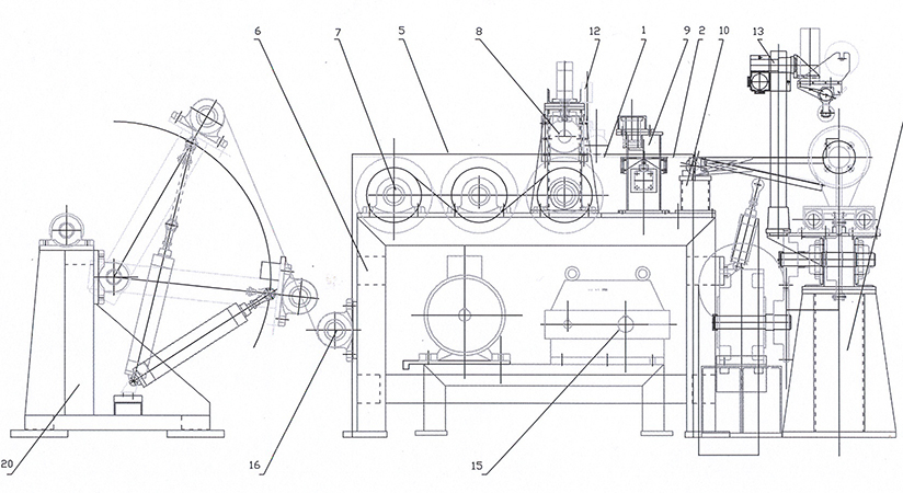 Drawing of the winder